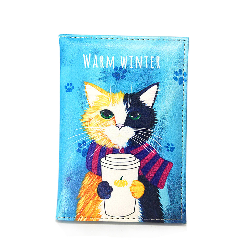 Super Cute Cat Prints Women Passport Cover Lovely Case For Passport Travel Passport Cover Women