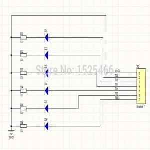 Image 5 - 5 pièces DC 3 12V 6 bits multicolore LED carte pour Arduino DUE UNO MEGA2560 MEGA Leonardo Tre zéro Ethernet bouclier 3d imprimante