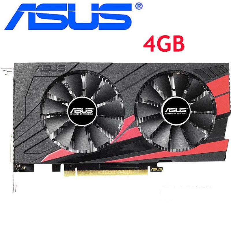 ASUS Video Card Original GTX 1050 Ti 4GB 128Bit GDDR5 Graphics Cards for nVIDIA VGA Cards Geforce GTX 1050ti Hdmi Dvi game Used 1