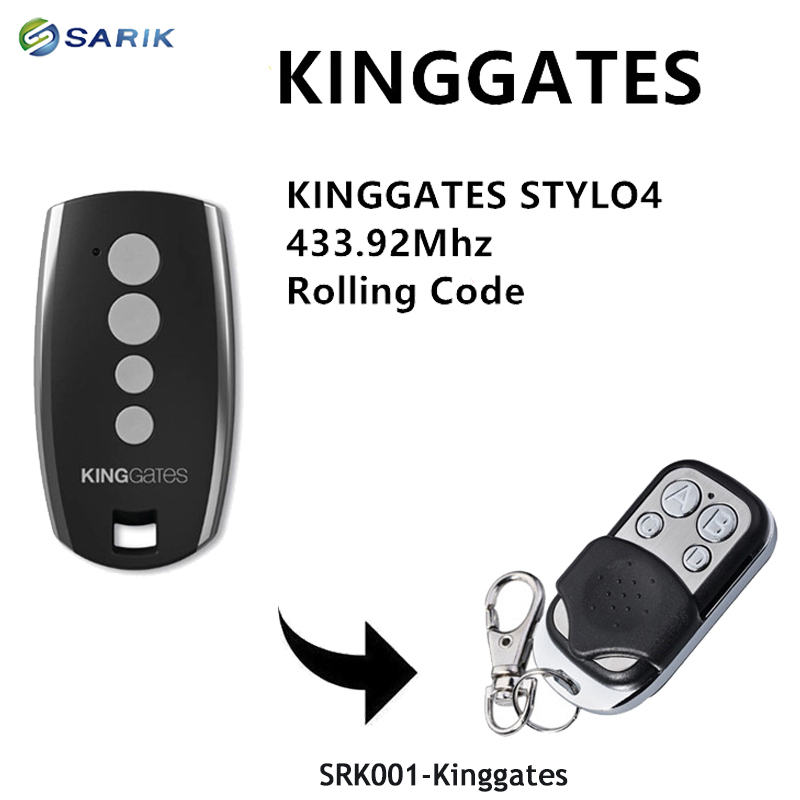 4pcs King <font><b>Gates</b></font> Stylo 4K garage <font><b>remote</b></font> replacment 433.92mhz handheld transmitter Kinggates <font><b>gate</b></font> control key fob rolling code image