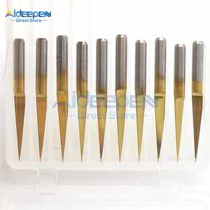 10 шт./партия 3,175 мм карбидные PCB гравировальные биты PCB Прямые V гравировальные сверла CNC инструмент для маршрутизатора 10 градусов 0,1 мм