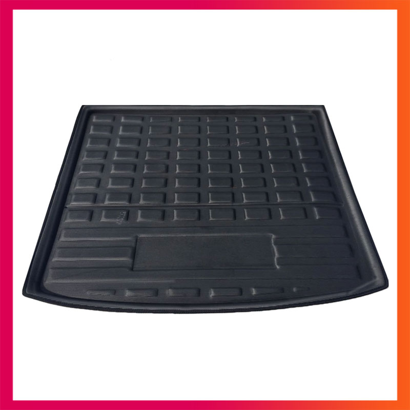 For Skoda Kodiaq 2017-2018 Liner Tray Car Rear Trunk Cargo Mat Floor Sheet Carpet Mud Protective Pad