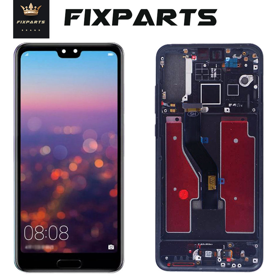 TFT LCD <font><b>Display</b></font> With <font><b>frame</b></font> for <font><b>Huawei</b></font> P20 Pro Touch Screen Digitizer Assembly 6.1