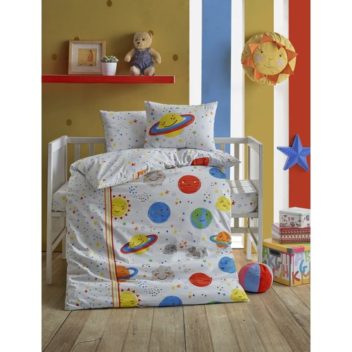 Baby bed Set Planet White Color 100 Cotton Girls Boys