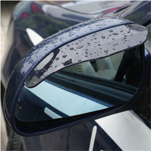 Image 2 - 2Pcs Universal Flexible PVC Car Accessories Rearview Mirror Rain Shade Rainproof Blades Car Back Mirror Eyebrow Rain Cover-in Side Mirror Folding Kit from Automobiles & Motorcycles