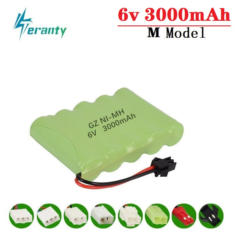 3000mah 6v Rechargeable Battery For Rc Toys Cars Tanks Robots Gun NiMH Battery AA 6v 2400mah Batteries Pack For Rc Boat 1PCS