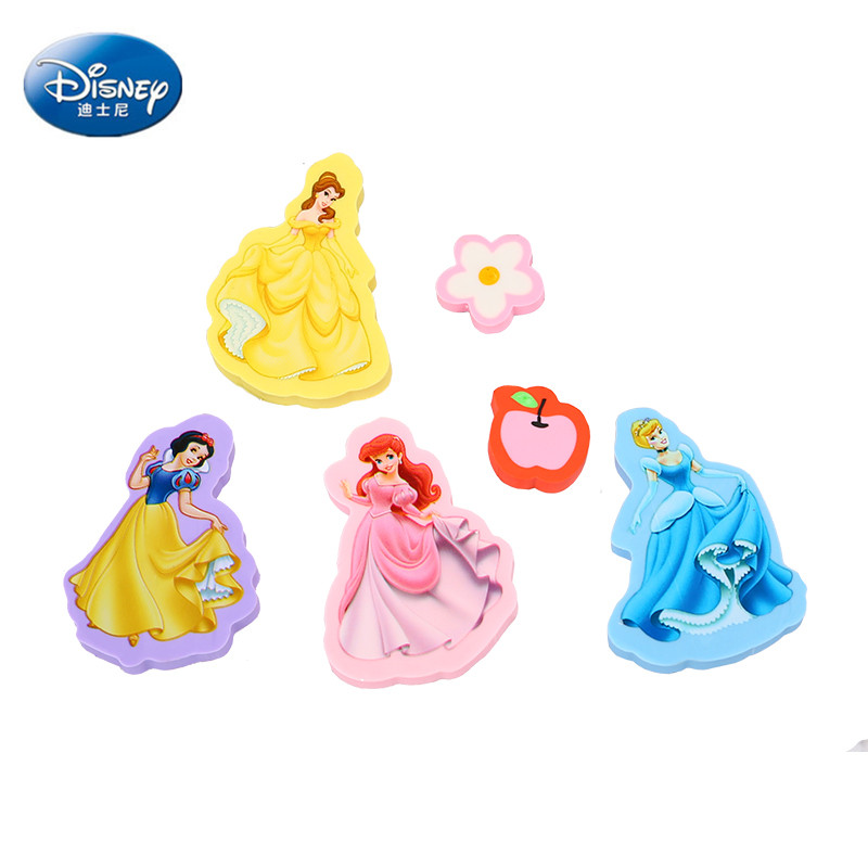 Disney Princess Cartoon Eraser Snow White Cute Stationery Creative Painting Writing Supplies Prizes For Kids Girl Gift