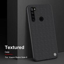 Dla Xiaomi Redmi Note 8 NILLKIN teksturowane z włókna nylonowego trwałe antypoślizgowe cienkie i światło z powrotem etui na For Xiaomi Redmi Note 8 Pro przypadku