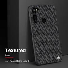 For Xiaomi redmi note 8 nillkin 질감 된 나일론 섬유For xiaomi redmi note 8 pro 케이스 용 내구성 미끄럼 방지 얇고 가벼운 뒷면 커버