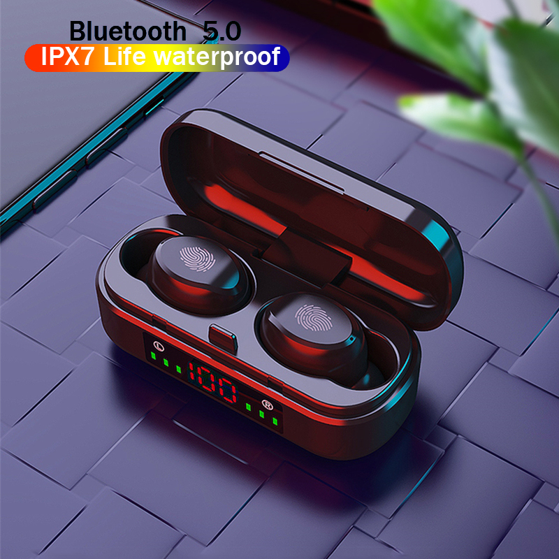 Беспроводные наушники V8 TWS Bluetooth 5,0 наушники 9D бас стерео водонепроницаемые наушники Bluetooth гарнитура с микрофоном и зарядным футляром