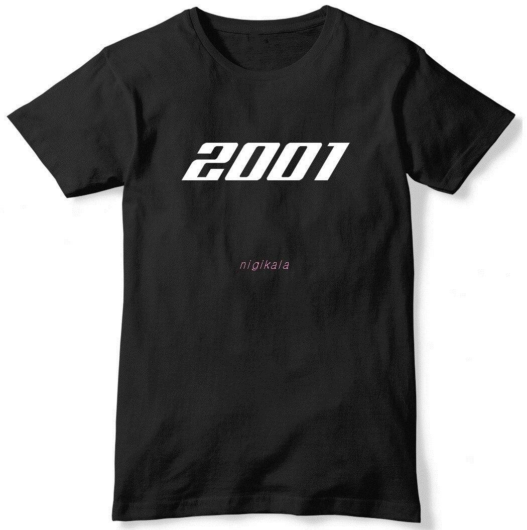2001 ano aniversário dos homens engraçado slogan unisex camiseta verão novo topo t