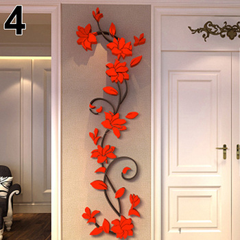 New Fashion Home Living Room Decorations Wall Stickers 3D Flower Removable DIY Wall Sticker Decal Mural bedroom decor 6