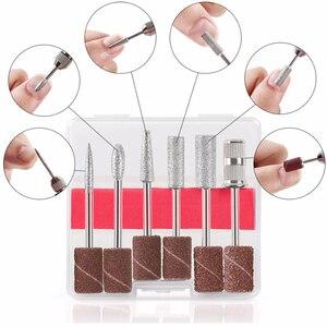 Image 5 - Professionelle Elektrische Nagel Bohren Maniküre Maschine mit Bohrer 6 Bits Pediküre nail art stift Datei Maniküre polieren werkzeug grinder