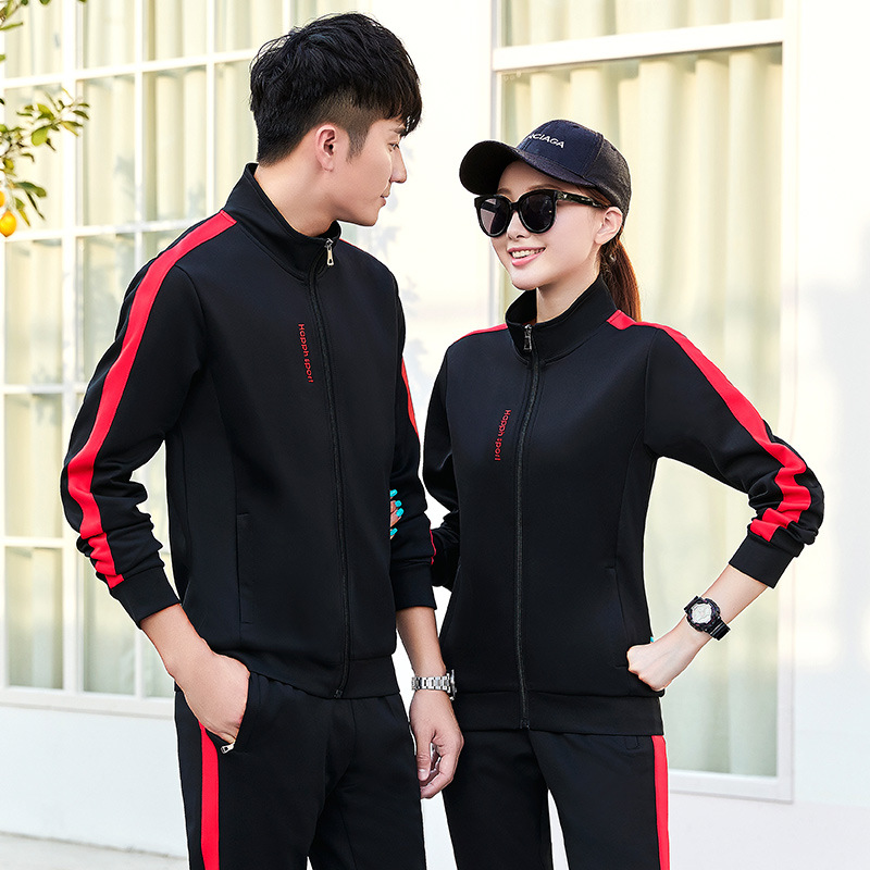 Spring And Autumn Men Long Sleeve Leisure Sports Suit Men's 2019 New Style Trousers Men's Youth Couples Two-Piece Set