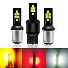Комплект из 2 предметов T20 7440 W21W P21/5 Вт светодиодный лампы 3030 12smd светодиодный CanBus 1156 BA15S P21W BAU15S PY21W 1157 Bay15d лампы для поворотов светильник