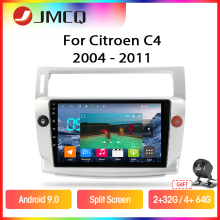 Jmcq Android 9.0 Rds Dsp Voor Citroen C4 C-Triomphe C-Quatre 2004-2011 Auto Radio Multimidia video 2din Gps Navigaion Split Screen