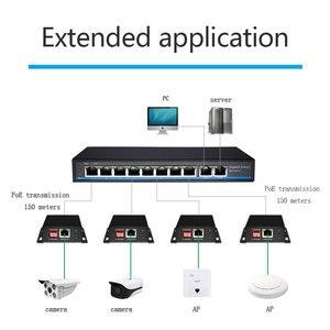 Image 4 - PoE ağ Ethernet anahtarı PoE genişletici 250 metre ile 1 port 10/100M Rj45 veya giriş 2 port 10/100M Rj45 çıkış