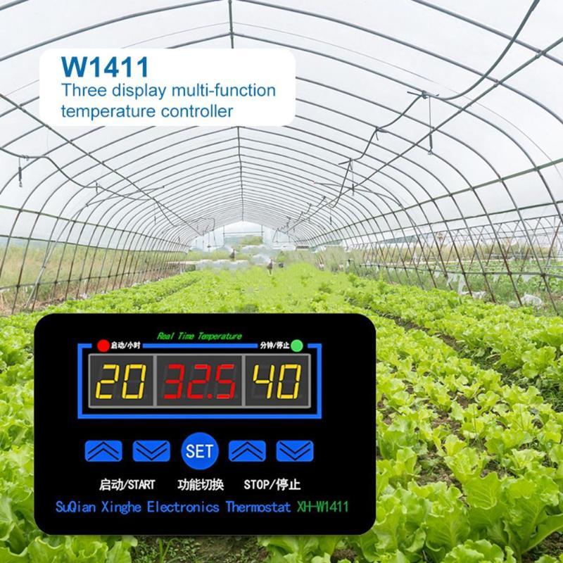 W1411 Digital Temperature Meter Controller Thermostat Regulator Egg Incubator Scope Of Application Greenhouse Cultivation
