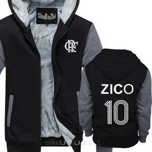 Image 2 - ZICO thick jacket BRAZIL FLAMENGO UDINESE FOOTBALLER LEGEND CAMISETA SOCCERER KASHIMA Men warm coat euro size sbz5100