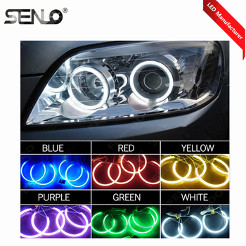 Wholesale CCFL Halo Ring Waterproof LED RGB LED Angel Eye Car For BMW E30 E32 E34 In Auto Lighting System Super Bright Colorful image