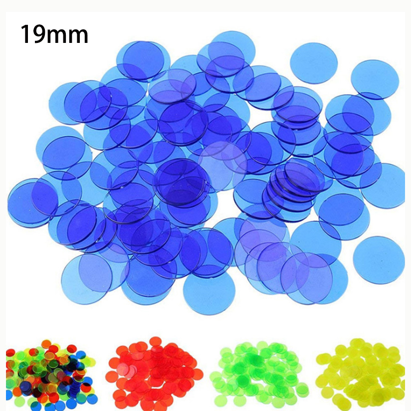 24 Kinds Colors Round Opacification/Transparent Coins 100 pcs/set 19mm Poker Chips Plastic Game Wholesale(China)