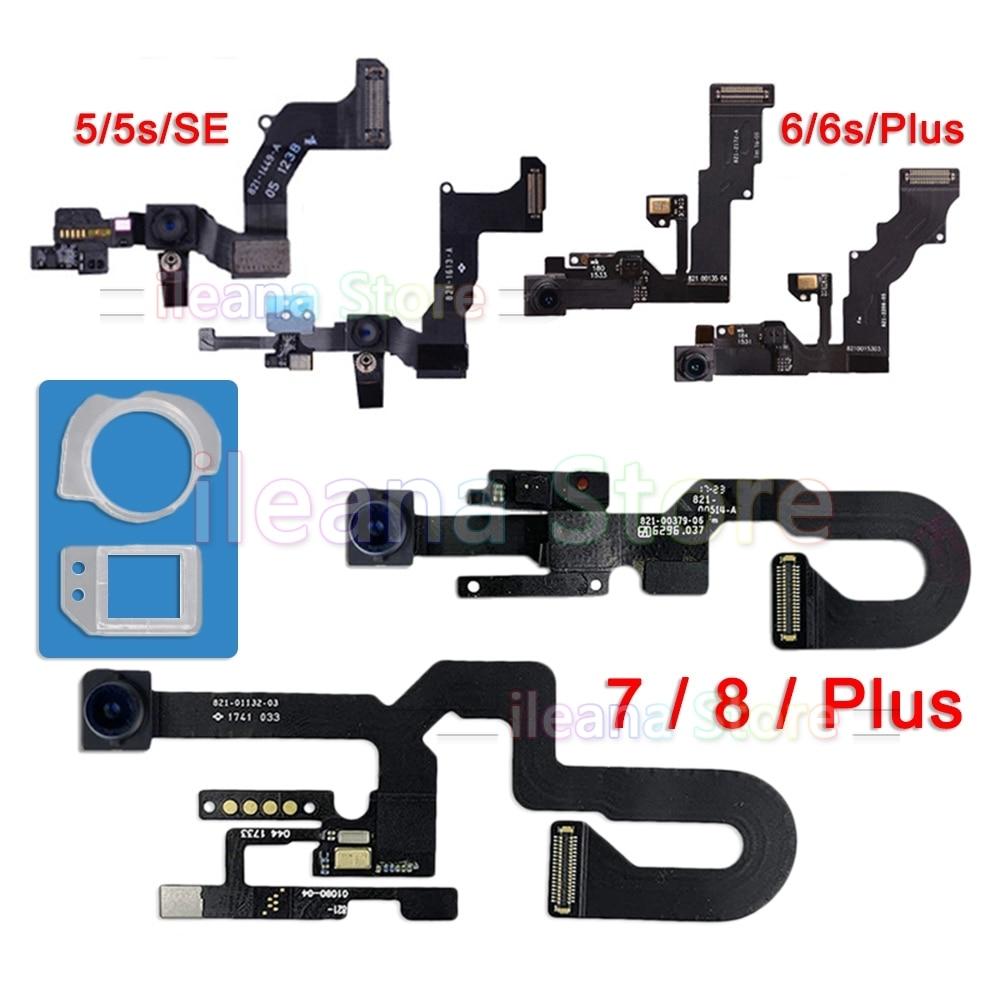 Original Front Camera Flex For IPhone 5S SE 5C 5 Right Proximity Sensor Face Front Camera Flex Cable For IPhone 6 6s 7 8 Plus