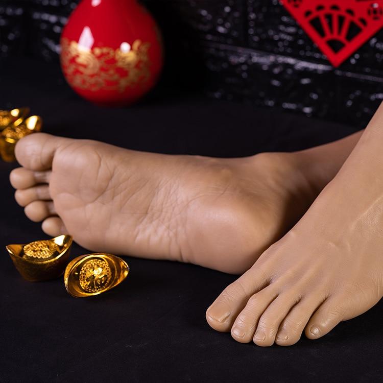 Simulation mâle pied modèle réel inversé pied modèle tir affichage accessoires peinture médicale enseignement grande taille mâle pieds - 1