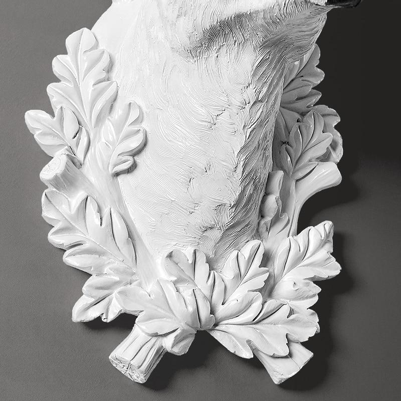 Домашний декор статуи аксессуары скандинавский стиль голова оленя скульптура гостиная настенный Декор статуя ремесло - 4
