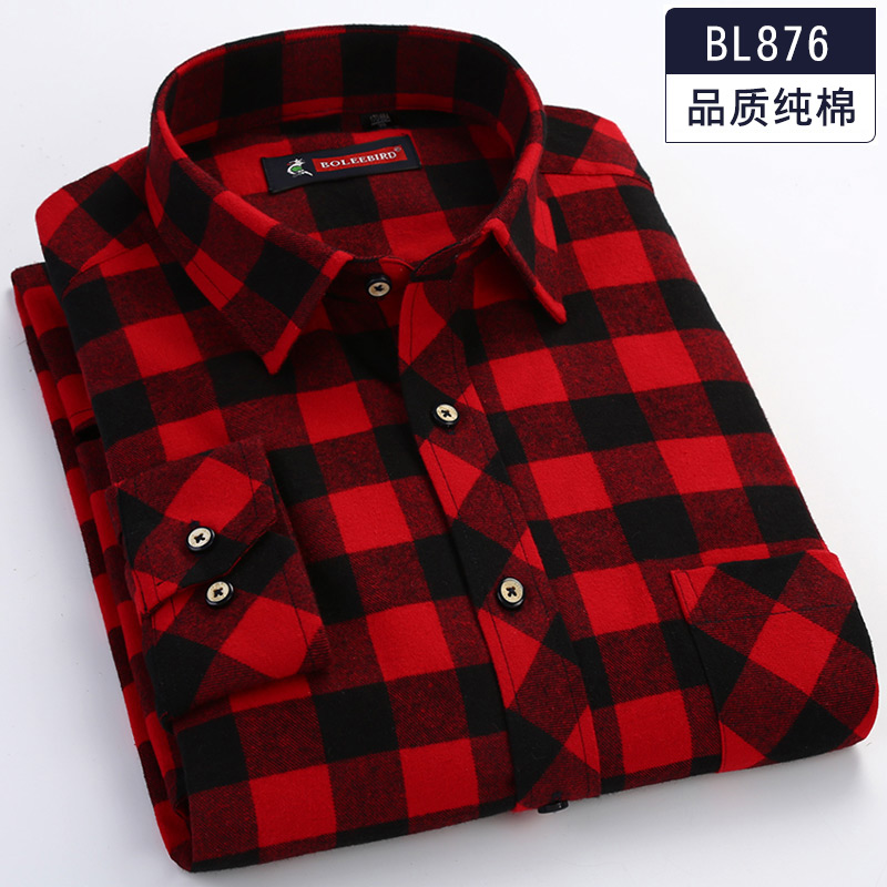 Plus Size 5XL <font><b>6XL</b></font> 7XL 8XL High Quality 100% Cotton Plaid Casual Formal Long Sleeve <font><b>Shirt</b></font> <font><b>Men</b></font> Top Sell Thick Middle-aged Clothing image