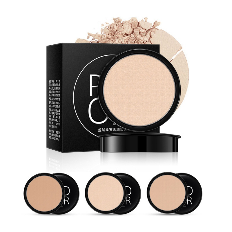 Face Pressed Mineral Powder Cosmetics Long Lasting Oil Control Brightening Whitening Contouring Makeup Powder Palette Beauty New image