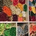 Шелковая вышивка/100% шелковая нить/Спиральная вышивка, шелковая нить, маленькие палочки для ручной вышивки, цветная карточка