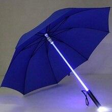 цена Light Up Umbrella Laser sword Light up Golf Umbrellas Changing On the Shaft/Built in Torch Flash Umbrella TY онлайн в 2017 году