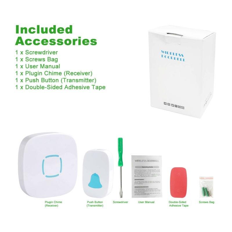 JOOAN Kablosuz Kapı Zili Premium Taşınabilir 36 Çanları Ile - Güvenlik ve Koruma - Fotoğraf 6