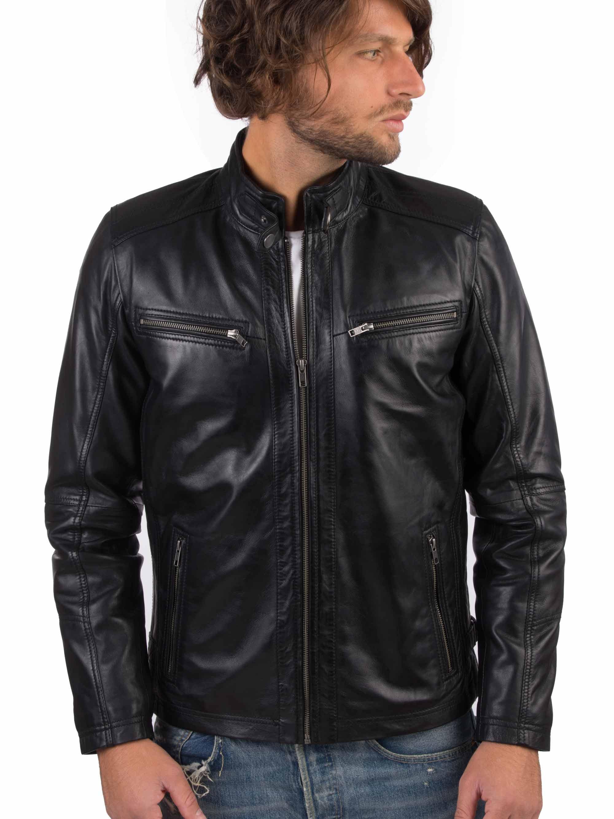 H8ce5a7a6232f4ae3b1a8ea859c88b7eaq VAINAS European Brand Mens Genuine Leather jacket for men Winter Real sheep leather jacket Motorcycle jackets Biker jackets Alfa