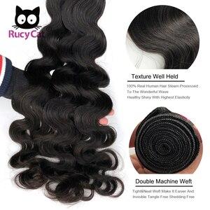Image 3 - RucyCat 08 40 inç brezilyalı insan saçı örgüsü demetleri vücut dalga 1/3/4 demetleri doğal renk Remy saç ekleme