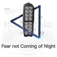 54W 18LED côté tireur LED travail barre lumineuse cosses blanc et ambre lampe stroboscopique