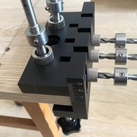 Punzón localizador de carpintería 3 en 1, plantilla de espiga métrica autocentrado, herramientas de perforación con pin de madera, plantilla de agujero de bolsillo