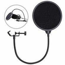 Dupla camada microfone blowout prevenção net cantilever suporte all-round ajuste nk-compras