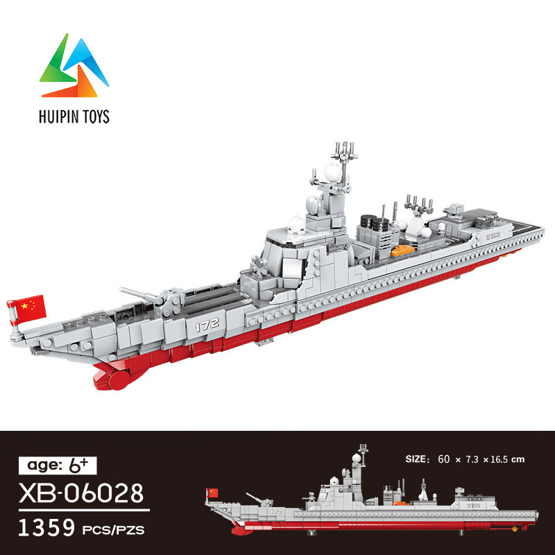 1359Pcs XINGBAO Building Blocks Toys XB-06028 легоe Military Series Navy for Chinese Destroy Bricks Gift for Children 4PX