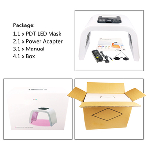 Image 5 - BeeRuddy Foldable PDT Spectrometer 7 Colors Led Facial Mask Face Phototherapy Skin Care Rejuvenation Instrument Beauty Equipment