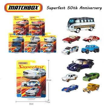 Matchbox aluminiowy Model samochodu superszybka seria 50. Rocznica kolekcja samochodów GBJ48 Model odlewu samochodu Voiture gorące zabawki dla chłopców