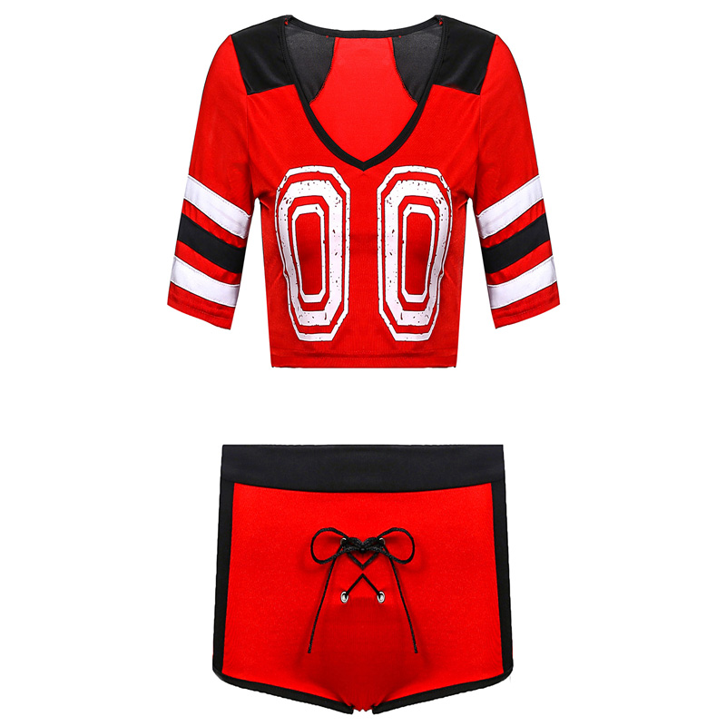 Cheerleader Costume Schoolgirl Blouse Pant School Girl <font><b>Sexy</b></font> Costumes Women <font><b>Cosplay</b></font> <font><b>Halloween</b></font> Sexi Costumes image