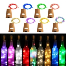 Wine Bottle String LED Lights with Cork,Pumpkin Lantern Decorative Light Cork for Copper Wire Party