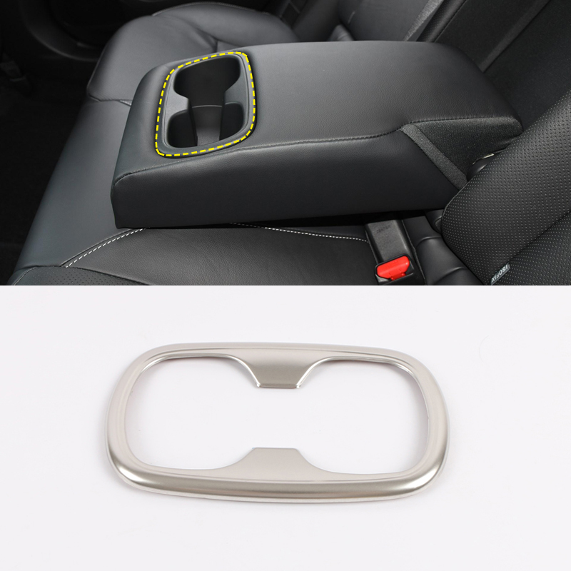Interior Rear Water Cup Cover Decorative Trim ABS Matte 1pc For Volvo XC60 2018