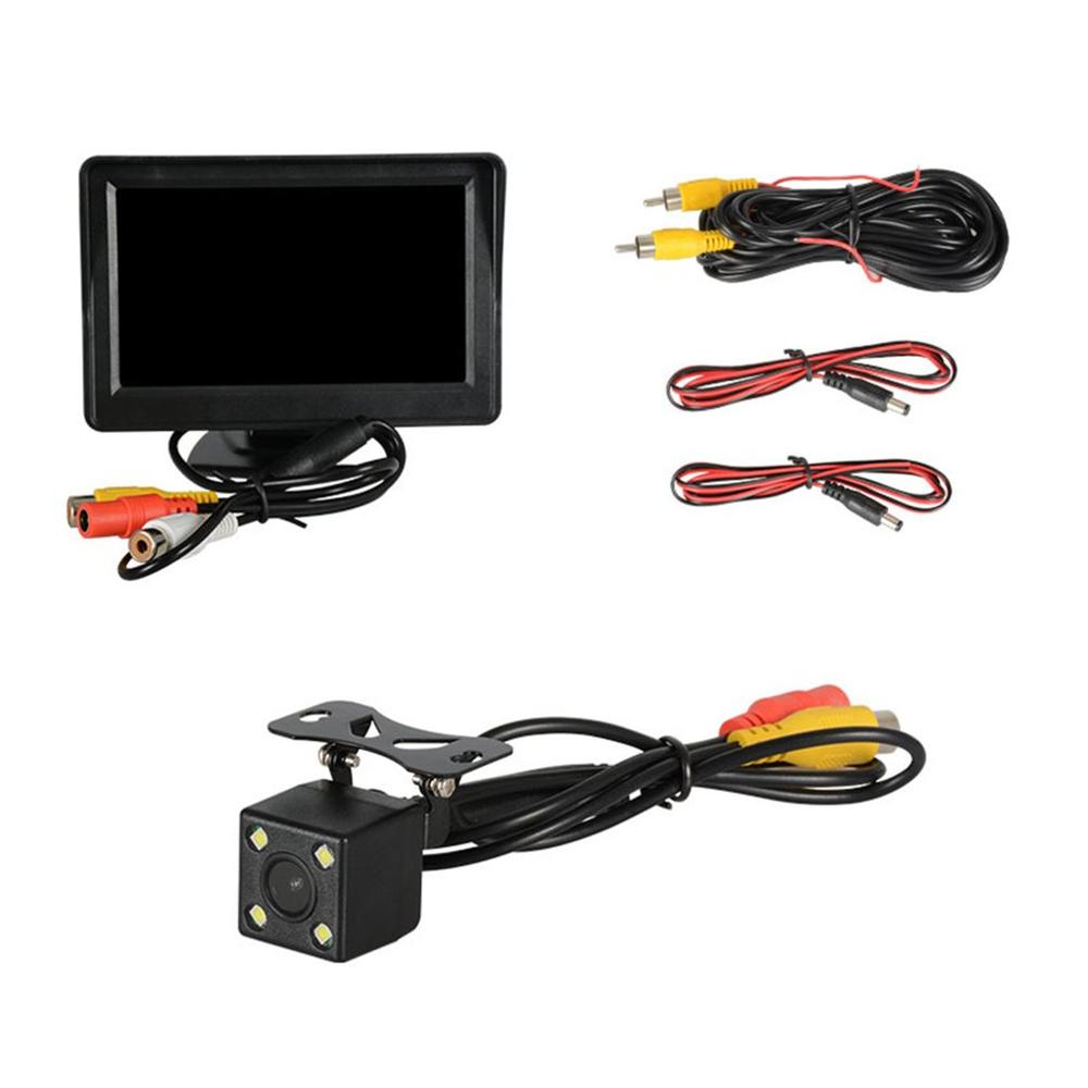 Car Camera <font><b>4.3</b></font> <font><b>Inch</b></font> +4 Lamp Camera Reversing Image Supplies Car <font><b>Monitor</b></font> With Camera Reversing Display Reversing Image Set image