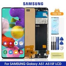 A51 amoled super para samsung galaxy a51 a515 display lcd de toque digitador da tela peças montagem para samsung a515 a515fn/ds a515f
