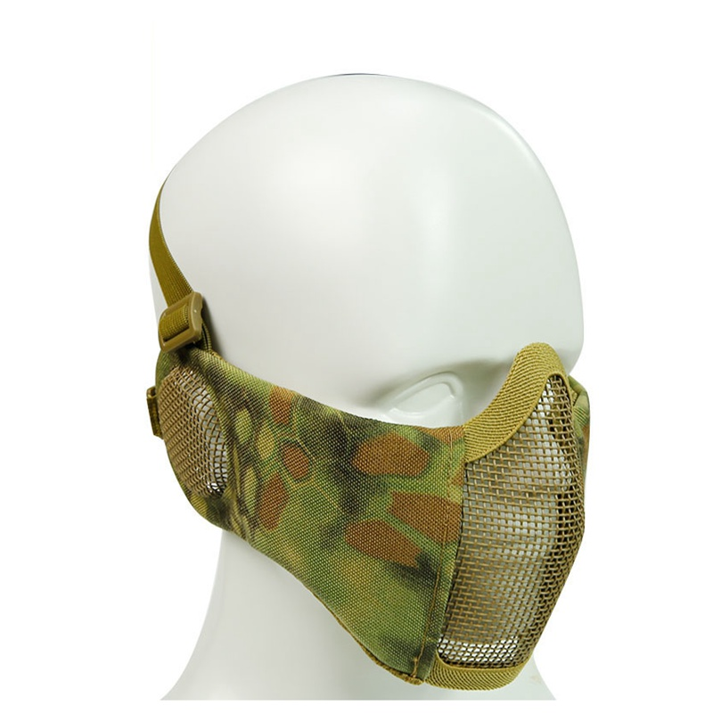 Outdoor Sport Military Tactical Mask Protective Strike Metal Mesh Airsoft Paintball Metal Mask Half Face Tactical Military Mask