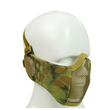 Outdoor Sport Military Tactical Mask Protective Strike Metal Mesh Airsoft Paintball Half Face