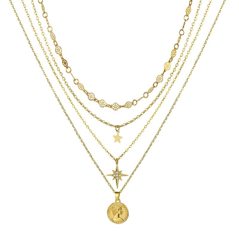 VKME модное жемчужное ожерелье с двойным слоем Love аксессуары Женское Ожерелье Bijoux подарки - Окраска металла: ZL0001046