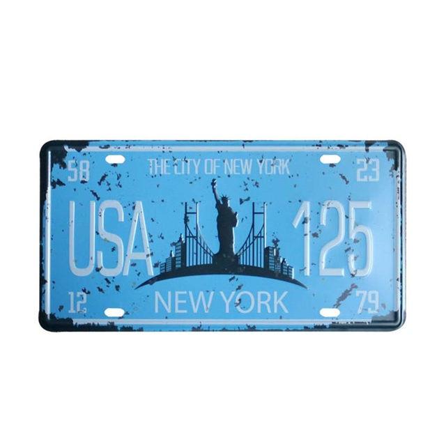 USA NEW YORK 125 Targhe in metallo Targa automobilistica ...